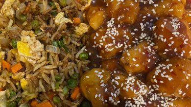 Photo of Sesame Chicken With Vegetable Fried Rice