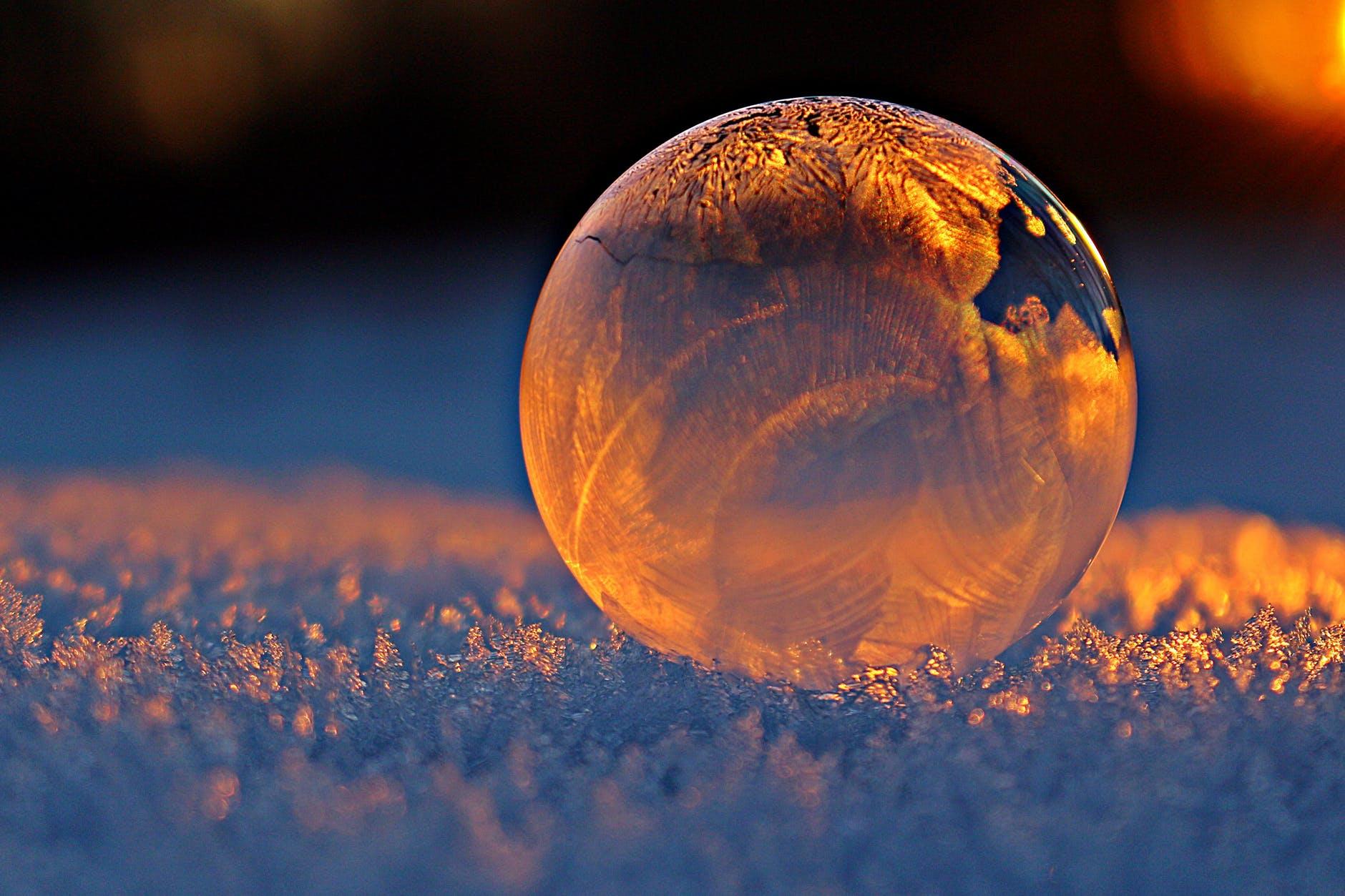 ball ball shaped blur bubble