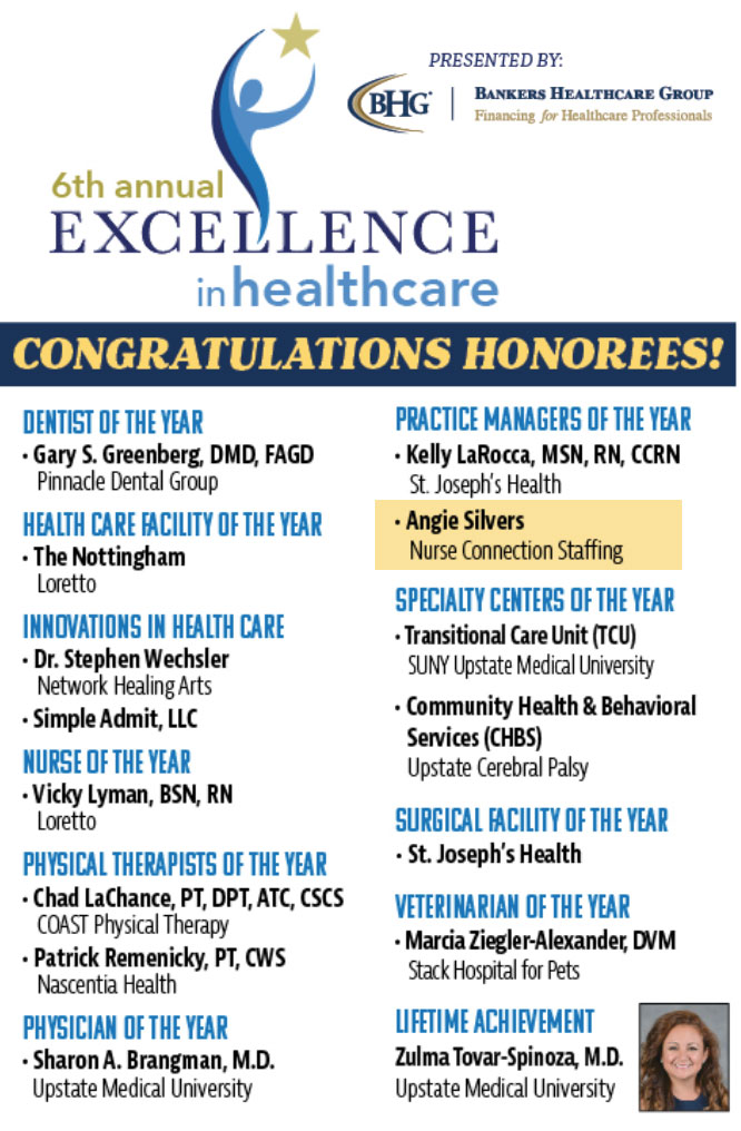 Excellence in Healthcare Honorees
