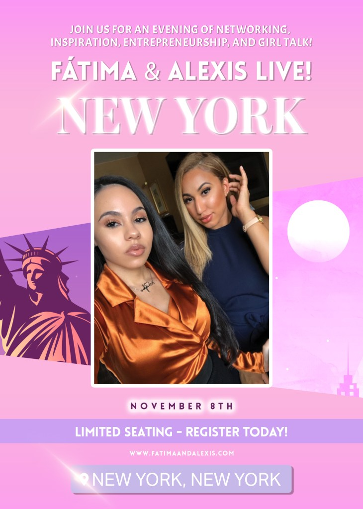 Fatima and Alexis picture and flyer