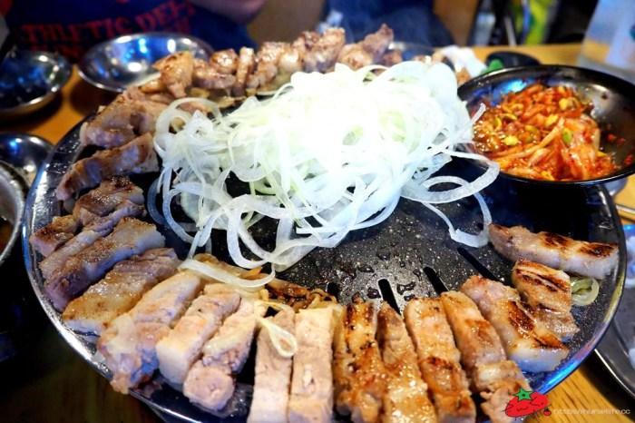 釜山 무한한파8.8.韓式烤肉三種set:豬五花、豬橫膈膜及豬皮都能吃到飽