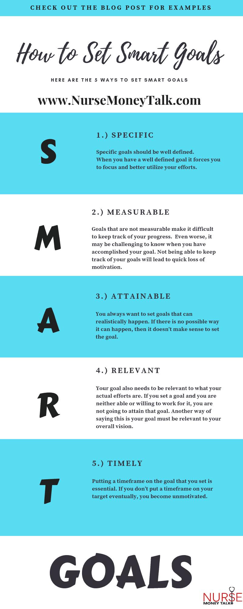 How to Set SMART Goals in Nursing - Nurse Money Talk