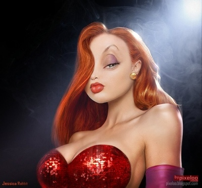 realistic-jessica-rabbit-red-hair-knockout-figure