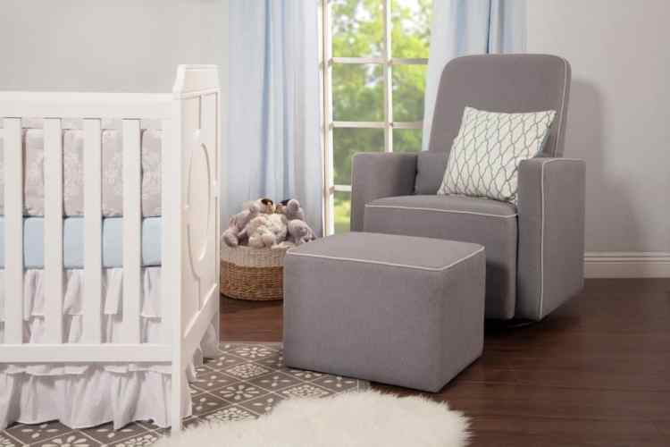 DaVinci Olive Upholstered Swivel Glider Review