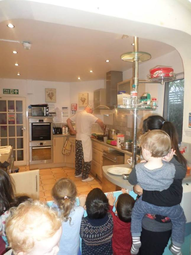 Pancake day at Nursery Leicester