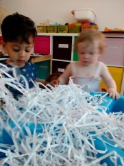 Baby room messy play