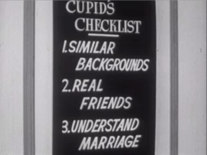 """Still from Coronet Instructional Films' """"Are You Ready For Marriage?"""" 1950."""