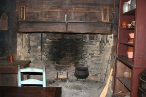 A fireplace-style kitchen common 17th and early 18th centuries. Source: The Allen House in Alamance County, NC. Some rights reserved by learn_nc.
