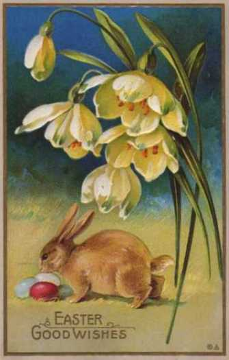 1900 Easter postcard