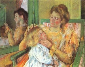 969px-Cassatt_Mary_Mother_Combing_Child's_Hair_1879