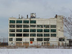 View of the Fisher Body plant in Detroit.