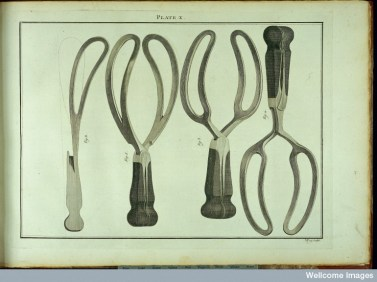 A collection of forceps. Wellcome Library, London