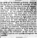 """Radway's Regulating Pills,"" The Spirit of Democracy (Woodsfield, OH), Nov. 27, 1861. (Source: Chronicling America: Historic American Newspapers, Library of Congress. Image provided by: Ohio Historical Society, Columbus, OH.)"