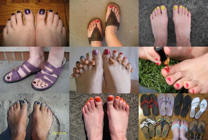 Gallery of feet with painted nails