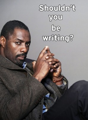 'Should't you be writing' meme