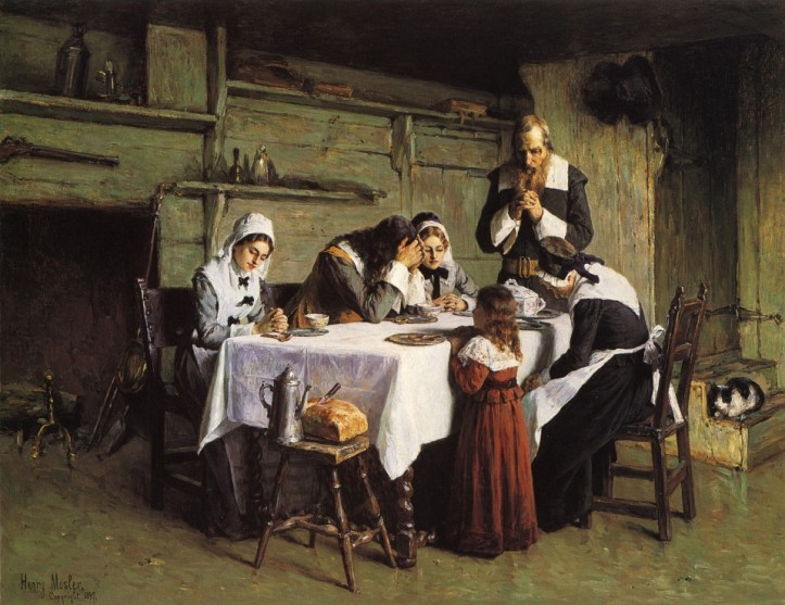 """Pilgrims' Grace,"" by Henry Mosler, 1897. (Allentown Art Museum of Lehigh Valley/The Athenaeum 