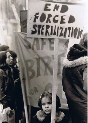 Protest against forced sterilizations, 1970. (Ava Helms)