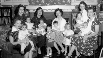 First meeting of La Leche League, 1956. (La Leche League)
