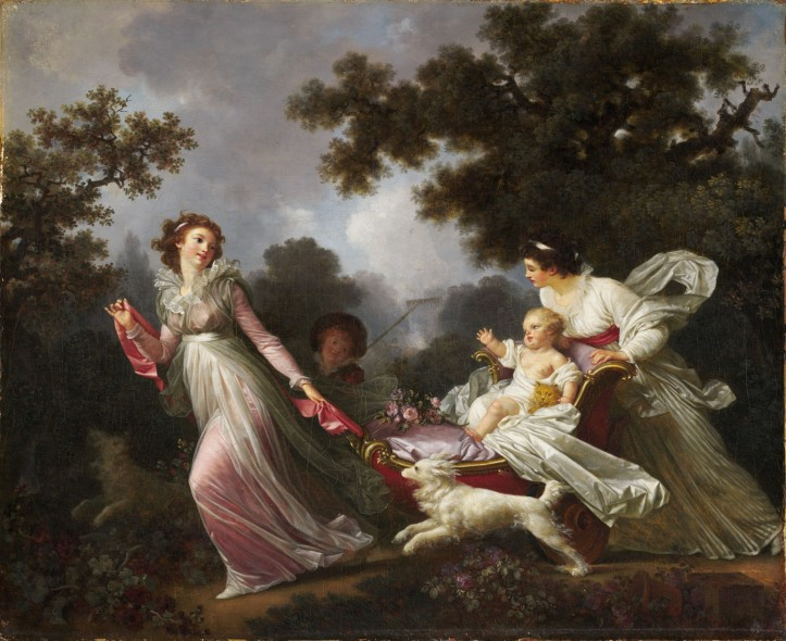 "Marguerite Gérard, ""The Beloved Child (L'Enfant chéri),"" ca. 1790. Oil on Canvas. (Hillwood Estate, Museum & Gardens)"