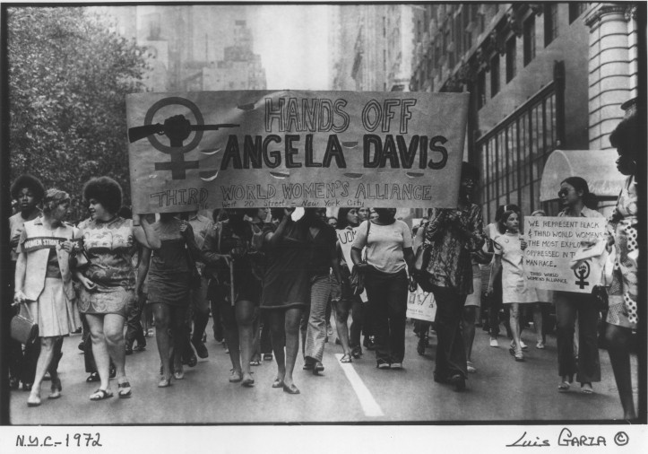 Third World Women's Alliance marching in support of Angela Davis, 1972.
