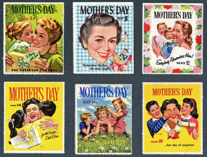 Mother's Day stamps. (wackystuff/Flickr | CC BY-NC)