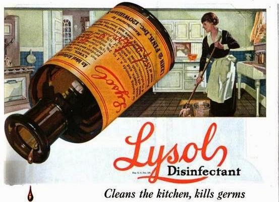 Lysol Disinfectant Ad, ca. 1921.