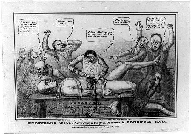Professor Wise, performing a surgical operation in Congress Hall,  N.Y. : Printed & publd. by H.R. Robinson, 1839.  Library of Congress Prints and Photographs Division Washington, D.C. 20540