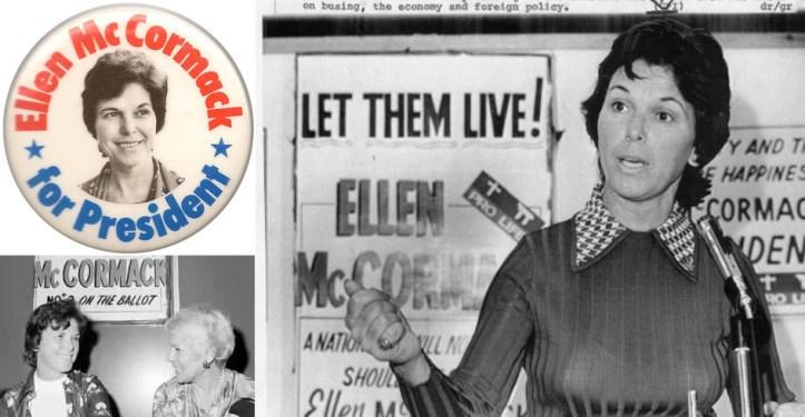 Ellen McCormack campaign material.