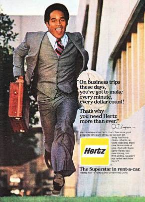 O.J. Simpson in a Hertz advertisement.