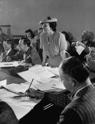 Brazilian Ambassador to the United Nations Bertha Lutz, in San Francisco in 1945 (UN)