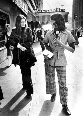 Gloria Steinem (left) and Pat Schroeder in Denver in 1974. (Duane Howell/The Denver Post)