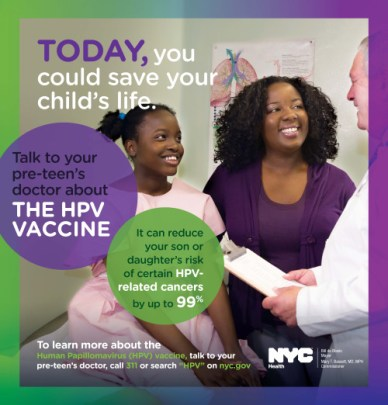 A 2014 HPV public service announcement from the New York City Department of Health and Mental Hygiene. (NYC Health)