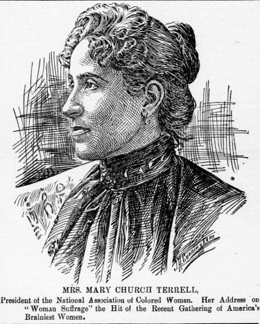 """""""Miss Mary Church Terrell,"""" in The Colored American, February 17, 1900, p. 1. (The Colored American/Chronicling America/US Library of Congress)"""