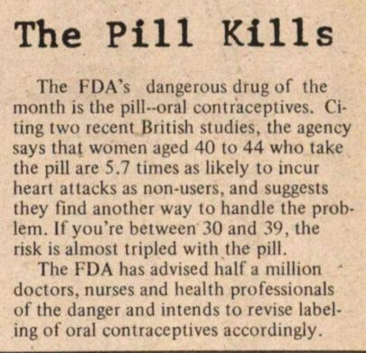 The Pill Kills: Women's Health and Feminist Activism