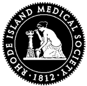 Logo for the Rhode Island Medical Society, founded in 1812.
