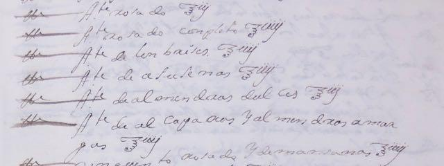 Detail of a pharmacy log showing lines of handwritten entries.