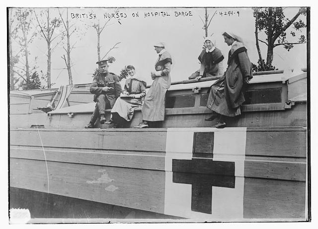 British nurses on hospital barge.