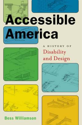 A book cover with the title at the top, and colorful rectangles, each featuing a sketch of various ramps in architectural renderings