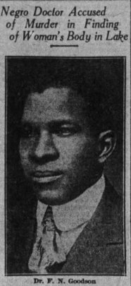 Fenton Goodson, a local Black physician, pictured in the St. Joseph newspaper while on trial for abortion