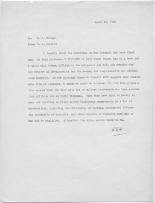 A type-written letter