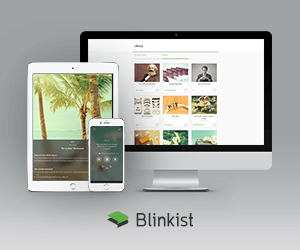 Blinkist and computer phone tablet