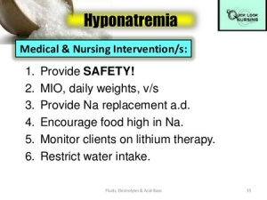 Nursing Intervention For Hyponatremic Patient