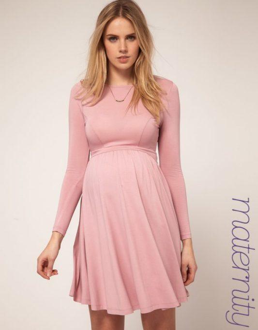 Pink maternity dresses for baby shower - Long Sleeve Maternity Dresses