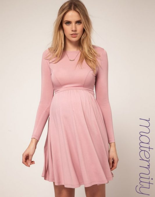 fe3c33e5d3a95 Pink maternity dresses for baby shower - Long Sleeve Maternity Dresses