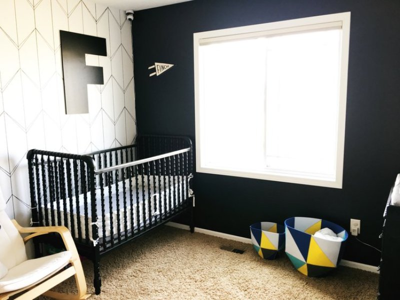 Baby Boy Nursery Ideas - Geometric Modern