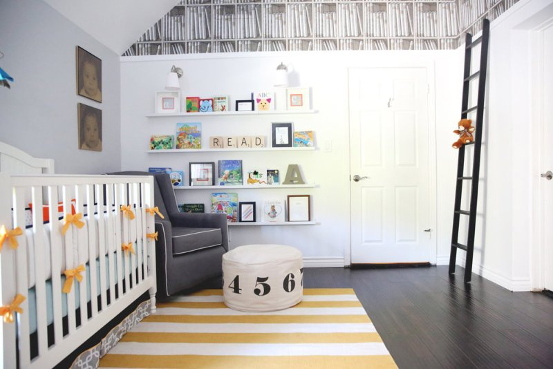 Baby Boy Nursery Ideas - Library Nursery