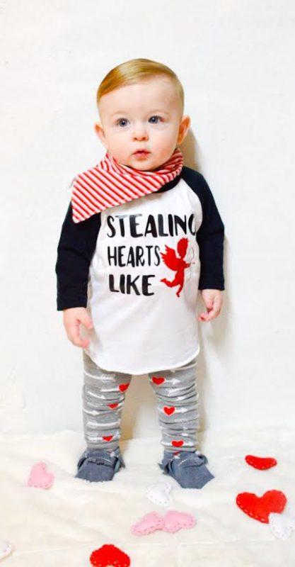 Newborn Baby Boy   Baby Boy Valentines Outfit