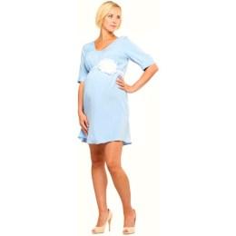 blue maternity dress