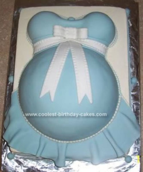 baby shower cakes for girls - Pregnant Belly Baby Shower Cakes