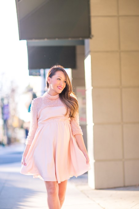 Pink maternity dresses for baby shower